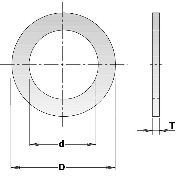 ANELLO X RIDUZ FORO LAME 30-20X1.4 -CMT-