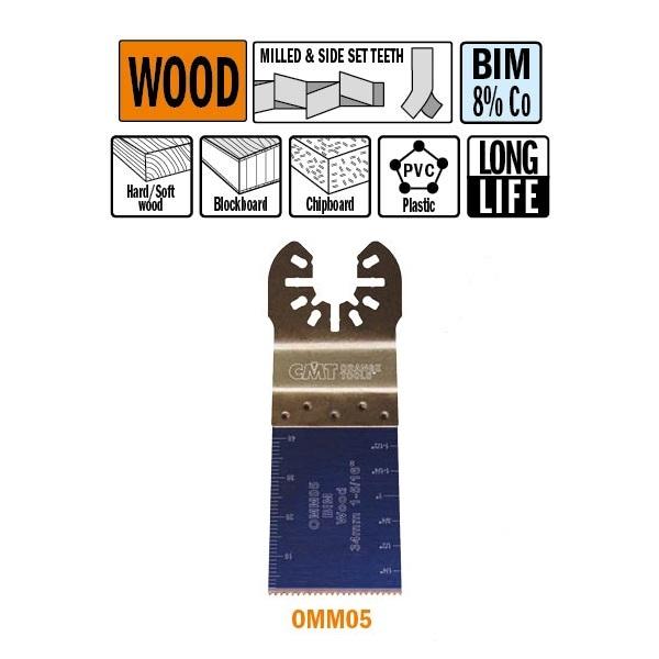 PROMO 10+2 LAME IN OMAGGIO x TAGLIO LEGNO BIM 34X40mm 18TPI-U -CMT-