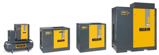 ELETTROCOMPRESSORE VITE NUAIR SIRIO 11/10 - KW11 - HP15 - 1500LT/MIN