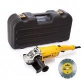 SMERIGLIATRICE 2200W 230MM+ DISCO DIAMANTATO DEWALT